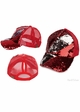 Two Tone Sequin Ponytail Baseball Hat from CC Brand inset 2