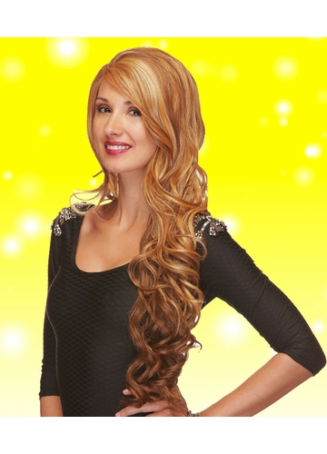 Ultra Long Wavy Lace Front Wig Champagne