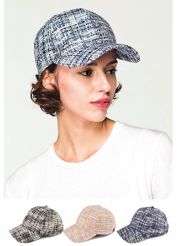 Uptown Tweed Baseball Hat from CC Brand
