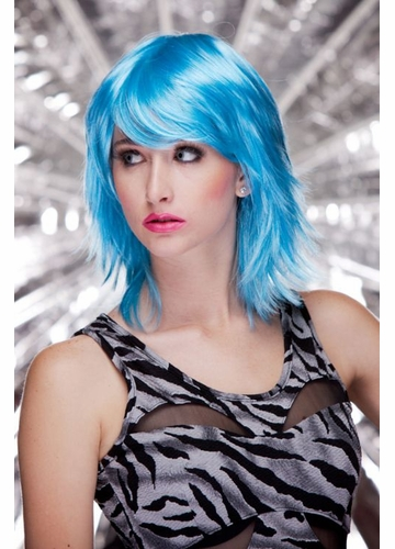 Vamp Shoulder Length Wig Kharma in Cool Blue