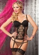 Veronica Dot Lace Bustier and Thong inset 1