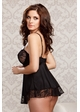 Victoria Lace Babydoll and G-string inset 1