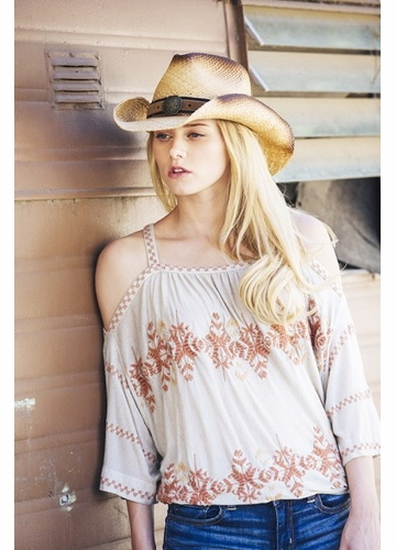 Vintage Finish Cowgirl Hat
