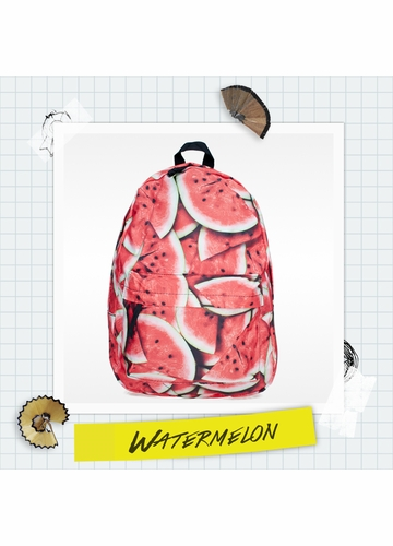 Watermelon Photo Print Backpack by Zohra