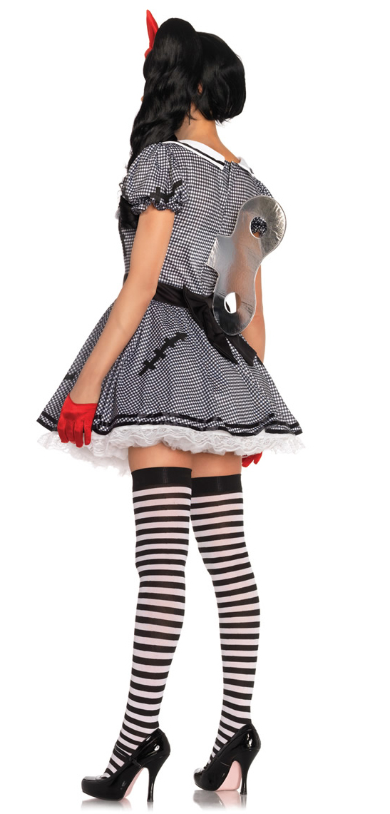 Wind-Me-Up Dolly Creepy Doll Costume from Leg Avenue Sexy Halloween Eye Makeup