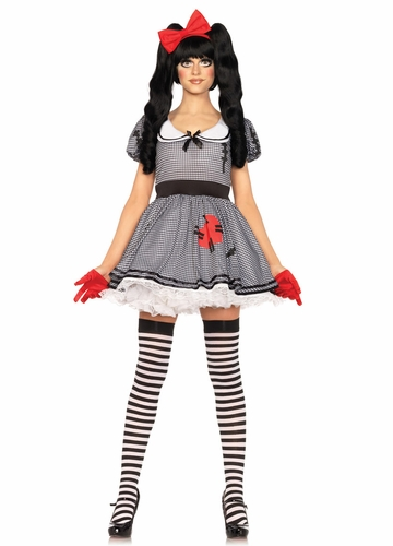 Wind-Me-Up Dolly Creepy Doll Costume from Leg Avenue