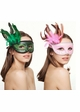 Winged Glitter Mask with Feathers in 10 Colors inset 4