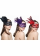 Winged Glitter Mask with Feathers in 10 Colors inset 1