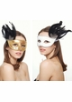 Winged Glitter Mask with Feathers in 10 Colors inset 3