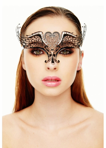 Wings of Love Masquerade Mask with Crystals