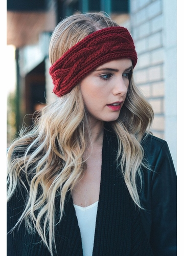 Winter Cable Knit Headband
