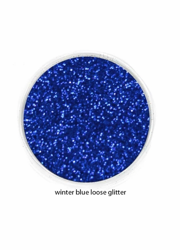 Winter Sky Blue Color of Luxe Glitter Powder for Eyeliner & Eye Makeup