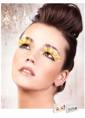 Yellow Feather Lashes