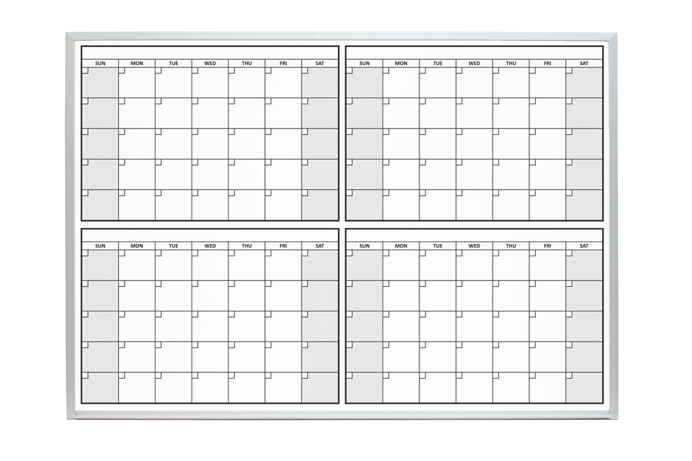 4 month dry erase calendars for 120 day calendar template