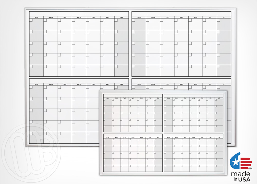 4 Month Calendars  sc 1 st  MyWhiteboards.com & 4 Month Dry Erase Calendars
