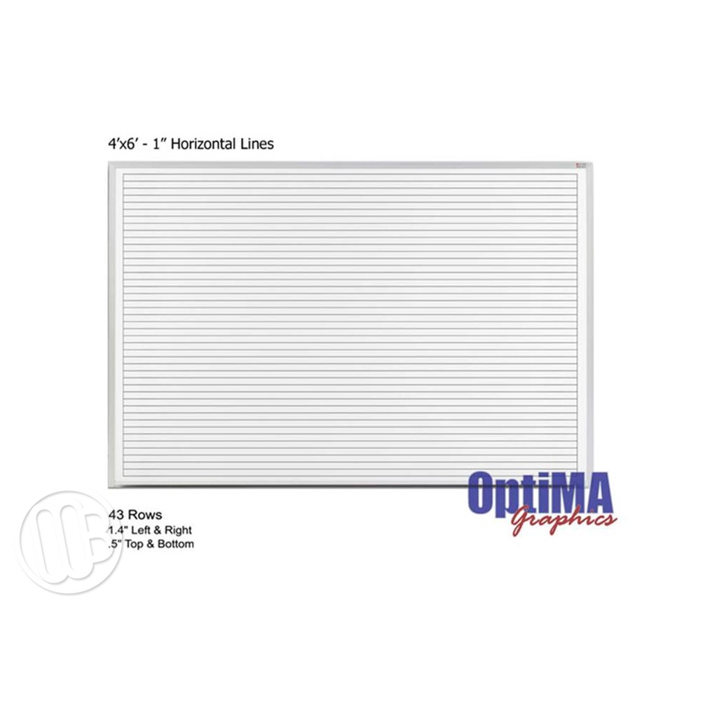 Lined Dry Erase Boards 4 X 6 Magnetic