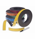 50' Rolls of Write On Wipe Off Magnetic Strips