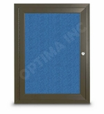 Bronze Outdoor Enclosed Bulletin Board