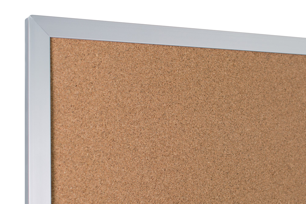 Cork Bulletin Board With Aluminum Trim