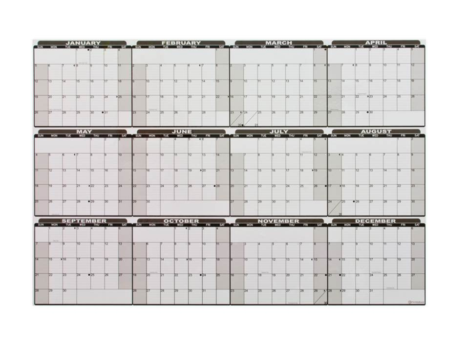 Yearly Calendar Whiteboards