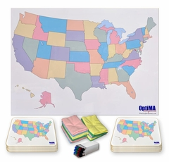 Printed Dry Erase USA Maps - Dry Erase Blank Us Map