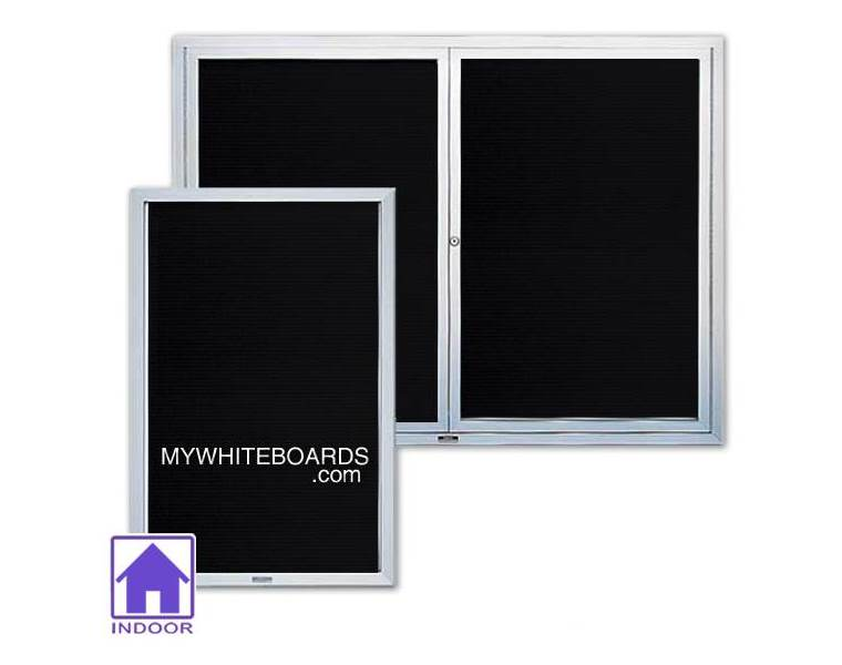 Enclosed letter boards with acrylic windows for Acrylic vs glass windows
