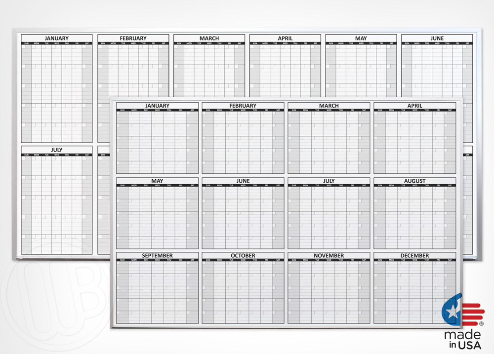 nonmagnetic 12 month dry erase calendars - Dry Erase Calendar