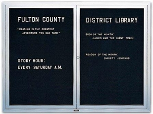 Enclosed Letter Boards