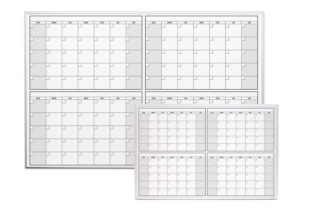 Four Month Dry Erase Calendars