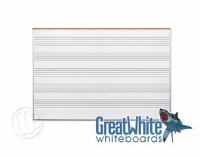 Great White Music Boards with Map Rail