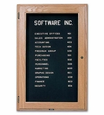 Indoor  Enclosed Directory Board with Oak Frames