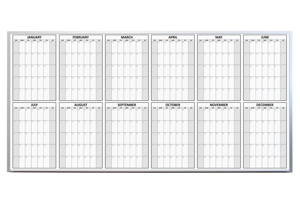 magnetic 12 month dry erase calendars magnetic 12 month dry erase calendars - Dry Erase Calendar