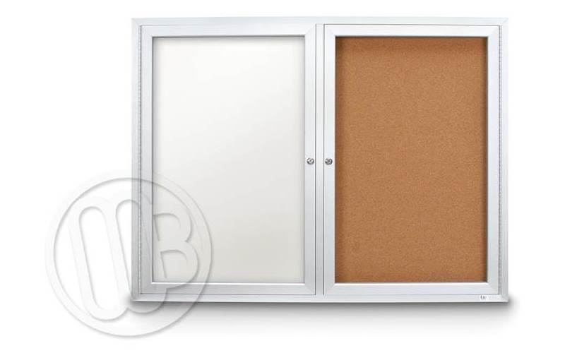 Lovely Enclosed Dry Erase Board Cabinet