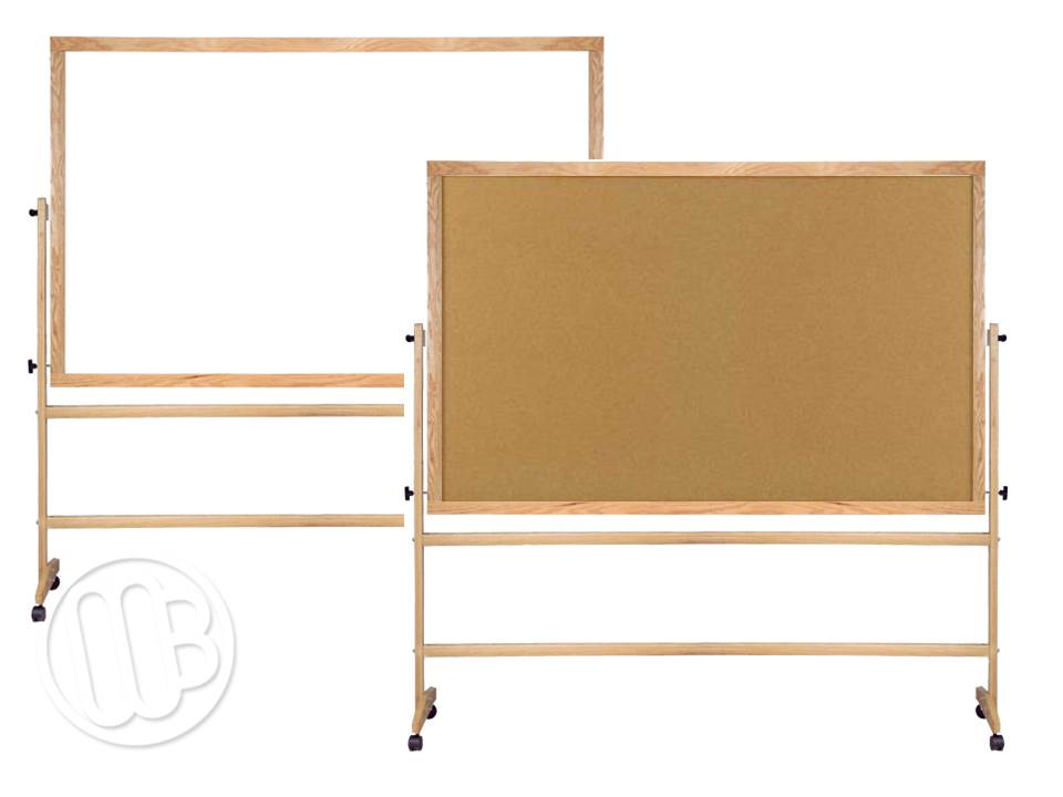 portable dry erase and cork board units