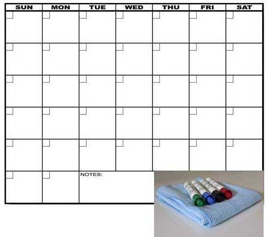 Magnetic Weekly Calendar For Refrigerator : Magnetic dry erase calendar search results