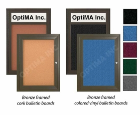 Outdoor Bulletin Boards Bronze Frame
