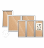 Outdoor Enclosed Bulletin Board with Aluminum Trim