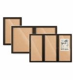 Outdoor Enclosed Bulletin Board with Colored Frame
