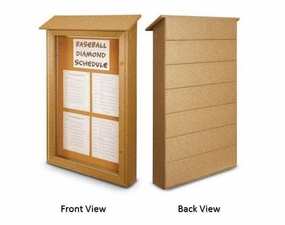 Single Door Outdoor Message Cabinet