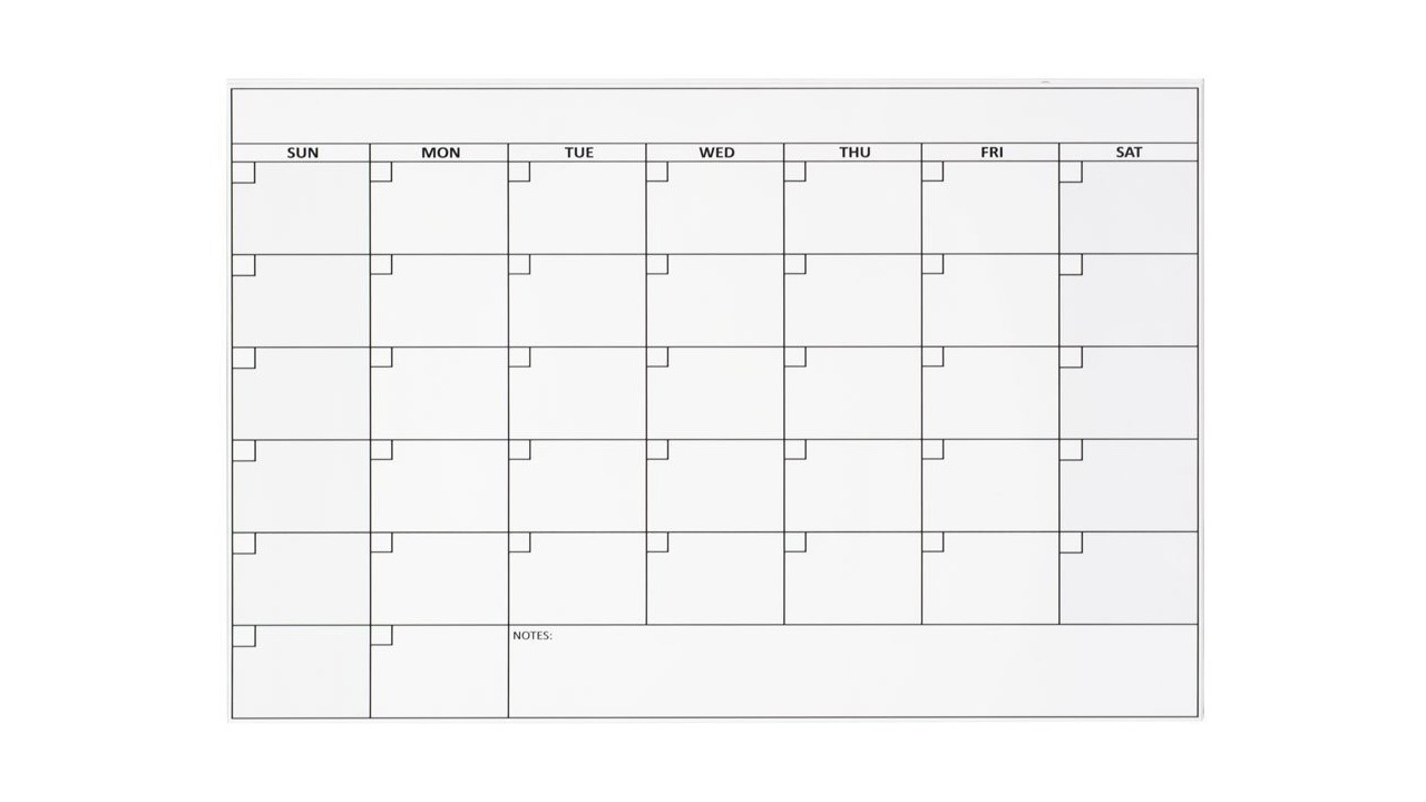 Blank Magnetic Calendar Refrigerator : Small magnetic refrigerator calendar