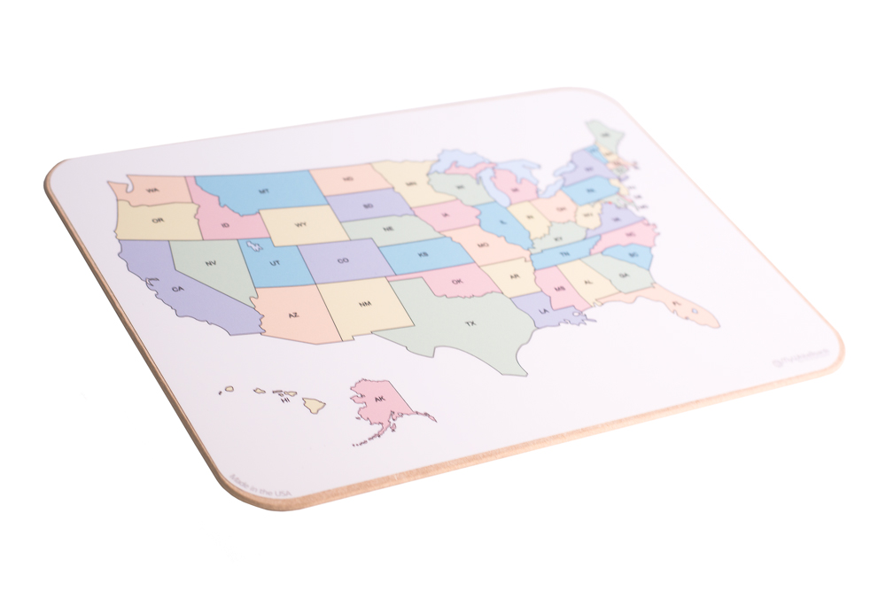 Student Lap Boards With US Map - Dry Erase Blank Us Map