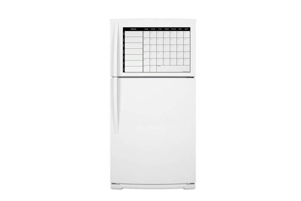 Magnetic Weekly Calendar For Refrigerator : Weekly magnetic refrigerator calendar