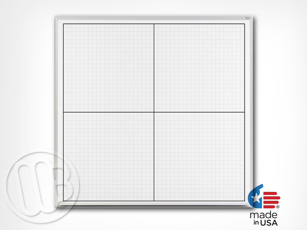 Dry Erase Xy Axis Grid Board