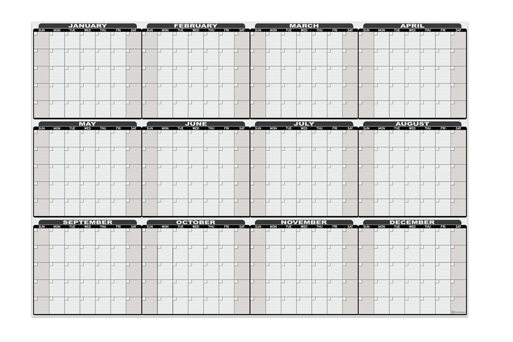 yearly dry erase calendar decal - Dry Erase Calendar