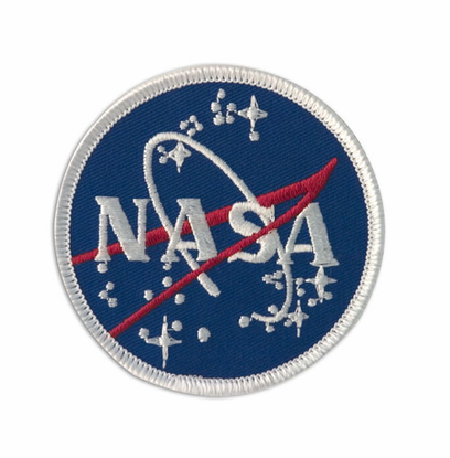 3 NASA Meatball Logo Patch White Border