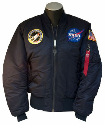Mens Flight Jacket  3 Patch MA-1  Navy