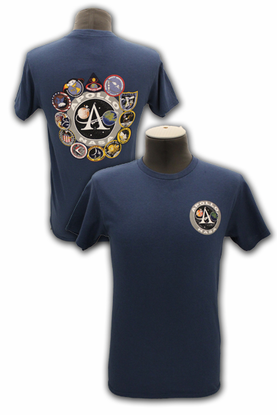 Mens T-Shirt Apollo  Patch Dark Blue