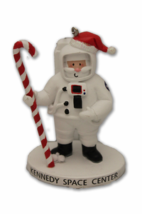 Astronaut Santa with Candy Cane