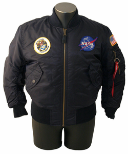 Kids 3-Patch Flight Jacket Navy