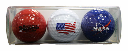 Colorful Set of 3 Golfballs